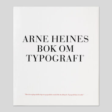Arne Heines bok om typografi