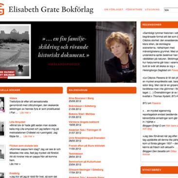 Webbplats åt Elisabeth Grate Bokförlag