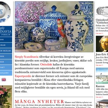Webbplats åt Simply Scandinavia