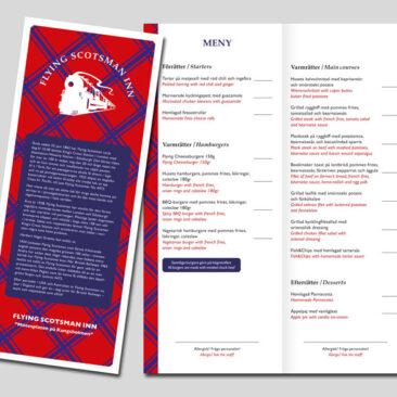Flying Scotsman Inn – meny